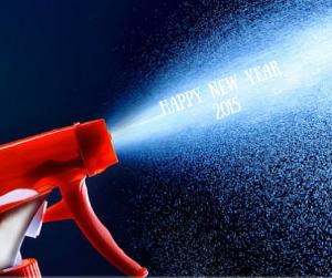 Happy New Year Spray Cleaner Bottle
