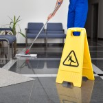 Safety when mopping a floor