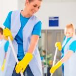 Ladies mopping the floors